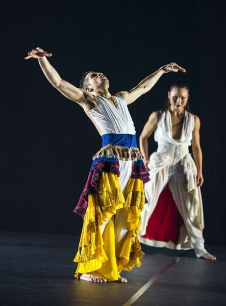 Carlos J. Martinez and Vanessa Vince-Pang in Phoenix Dance Theatre and Opera North's The Rite of Spring choreographed by Jeanguy Saintus. © Tristram Kenton