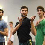Nadav Zelner, rehearsing BULLSHIT 2, Foto Regina Brocke