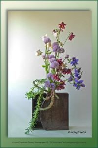 Vasenobjekt mit Blumengesteck