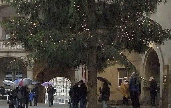 Regenwetter kurz vor Weihnachten