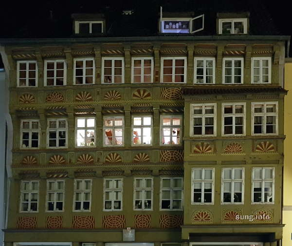Fachwerkhaus in Hannover bei Nacht