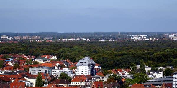 Hannover mit Grüngürtel