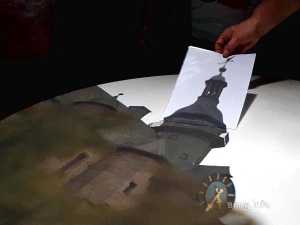 Camera Obscura in Marburg - Turmspitze verlängern