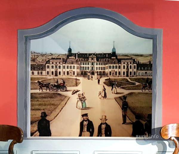 Hintergrundbild im Museum von Diez