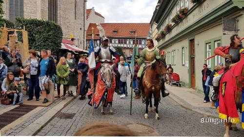 Reiter auf dem Mittelalterfest in bad Langensalza