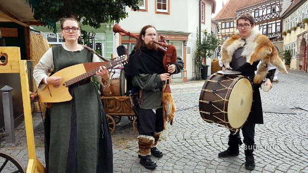 Musiker auf dem Mittelaltermarkt