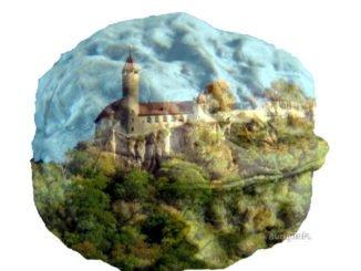 Walnuss mit Burg