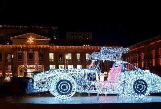 leuchtender Mercedes