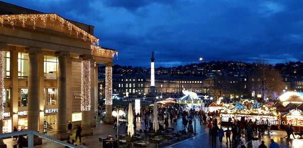 Weihnachtliche Beleuchtung in Stuttgart