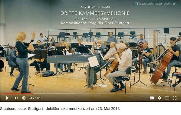 Video Kammersymphonie von Xaver Paul Thoma